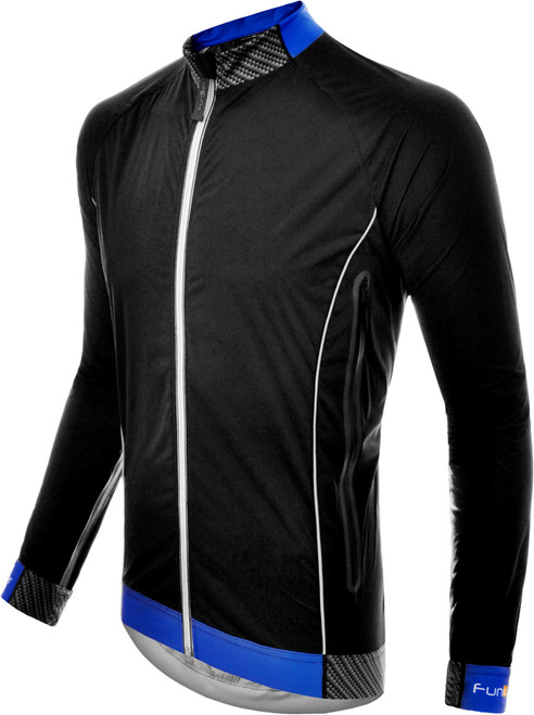 Funkier Hydro Ultra Lite Rain Jacket Black/Blue J-657-L