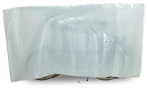 VK Duo Waterproof 2-Bike Bicycle Cover Inc. 5m Cord | White