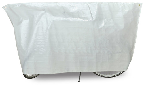 VK Classic Waterproof Single Bicycle Cover Inc. 5m Cord | White