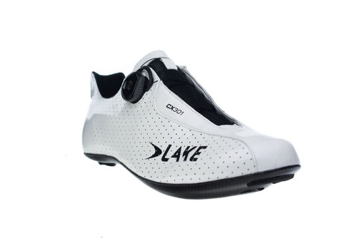 Lake CX301 Carbon Ultra Light Climbing Road Shoe | White