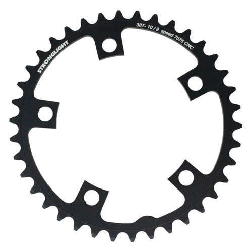Stronglight Zicral 7075 9/10 Speed Chainring   110mm BCD   Black   All Sizes