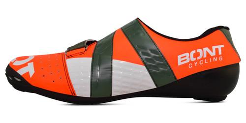 Bont Riot+ Cycling Shoe Mega Crimson/Khaki Fully Mouldable All Sizes