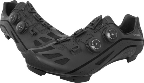 FLR F-95X Strawweight MTB Race Full Carbon Sole Shoe in Matt BlackAll Sizes