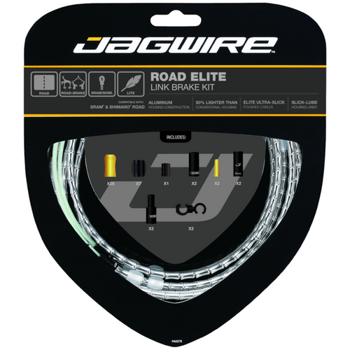 Jagwire Road Elite Link Brake Cable Kit in Silver from Sprockets