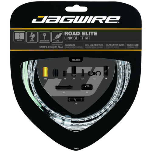 Jagwire Road Elite Link Shift Kit in Silver from Sprockets