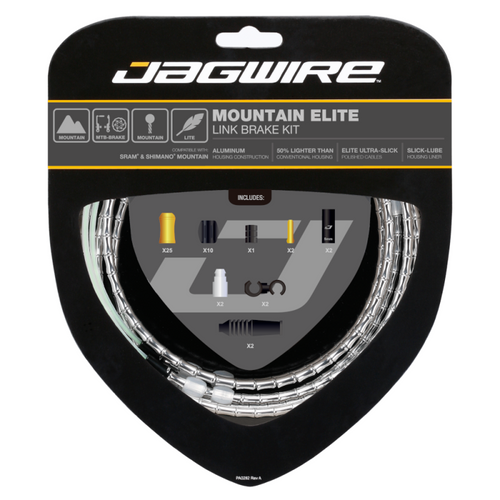 Jagwire Mountain Elite Link Brake Cable Kit in Silver from Sprockets