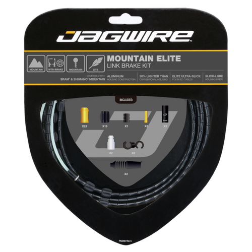Jagwire Mountain Elite Link Brake Cable Kit in Black from Sprockets