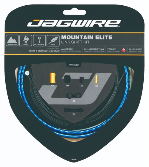 Jagwire Mountain Elite Link Gear Kit in Blue from Sprockets