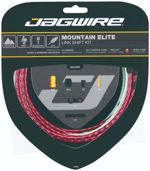 Jagwire Mountain Elite Link Gear Kit in Red from Sprockets