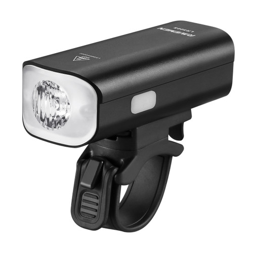 Ravemen LR500S USB Rechargeable Curved Lens Front Light in Matt Black (500 Lumens)