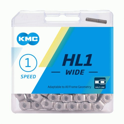 KMC HL1 Wide 1/3 Speed Chain 104 Link Silver