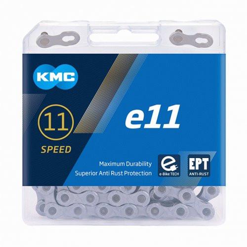 KMC E11 EPT 11 Speed Chain E-Bike 118 Link Silver