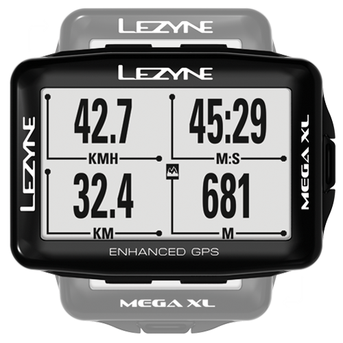 Lezyne Mega XL GPS Computer In Black
