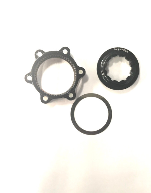 Lockring With Adapter For 6 Bolt Disc Hub In Black