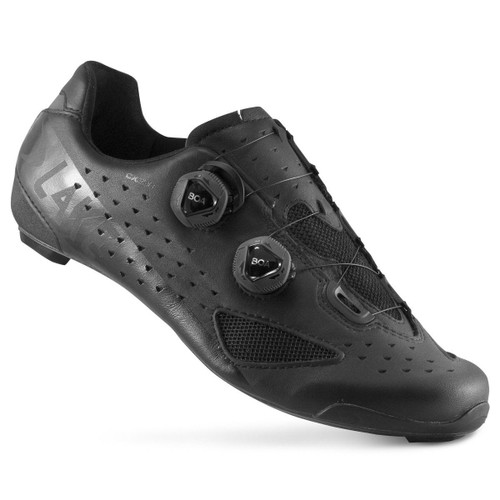 Lake CX238 Carbon Water Resistent Road Shoe In Black | Wide Fit | Half Sizes Available |