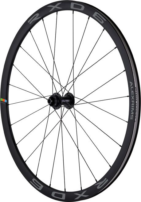 Alex Rims RXD6 700C Road 6 Bolt Disc Wheelset TL-Ready In Black Thru Axle F & R 12mm