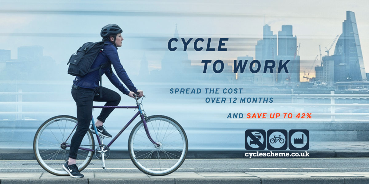 Cycle to Work Scheme - Spread the cost over 12 months and save up to 42 percent