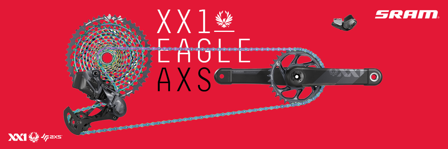 XX1 Eagle AXS by SRAM brings the most advanced technology to mountain biking with this complete groupset and electronic gear shifting.  Welcome to the future.