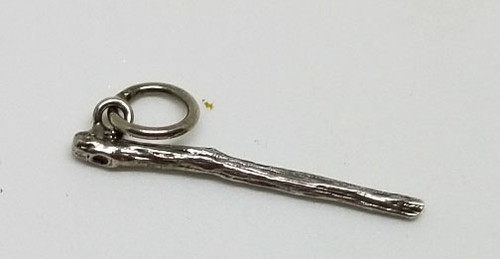 Wand/Staff Sterling Charm