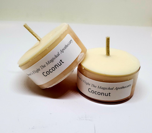 Coconut Scented Tea Light Candles Small