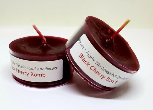 Black Cherry Bomb Tea Light Candles Small