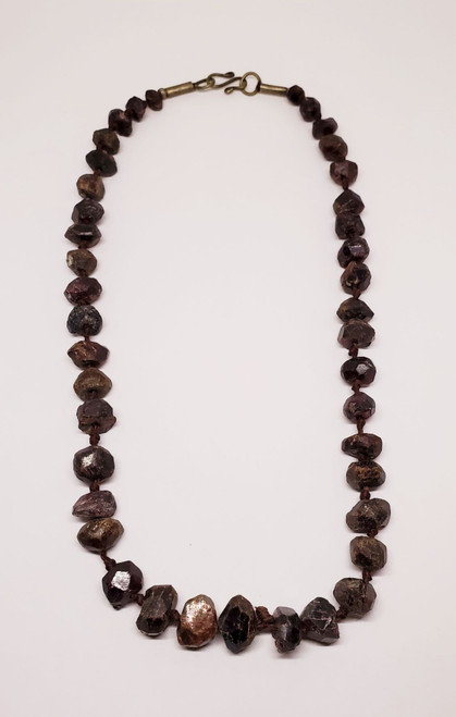Uncut Natural Garnet Necklace (#2)