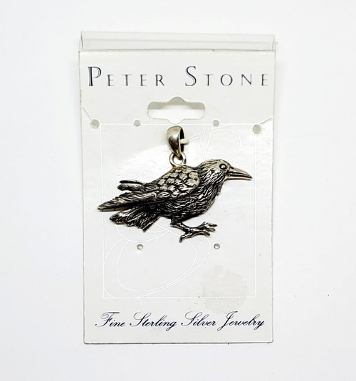 Raven Pendant by Peter Stone