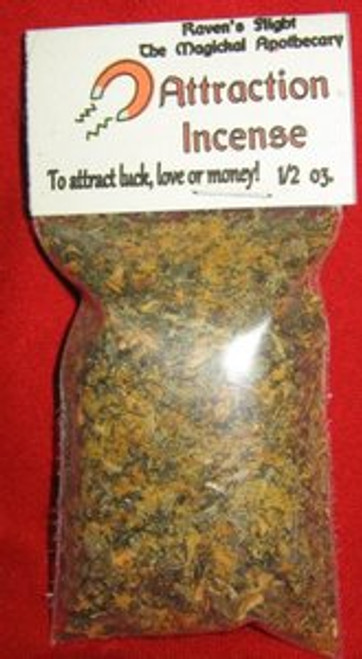 Attraction Charcoal Incense 1/2oz bag