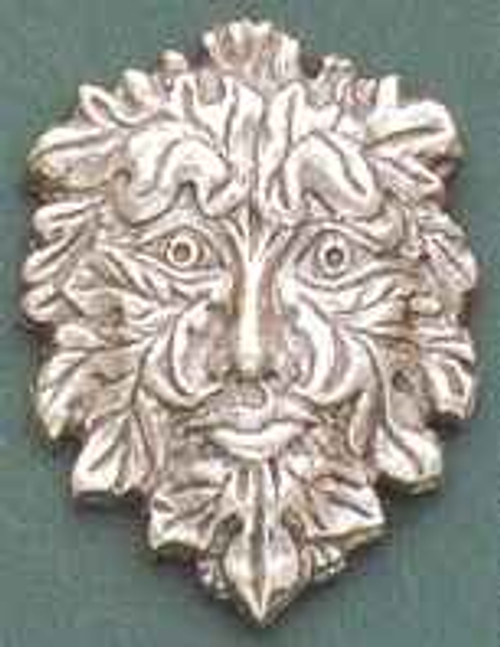 Green Man Sterling Silver Pin * Sale Price*