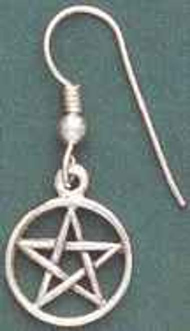 Small Pentacle Sterling Silver Earrings