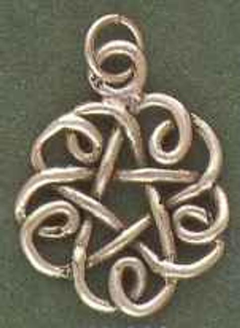 Curly Pentagram Pentacle by Brigid's Fire
