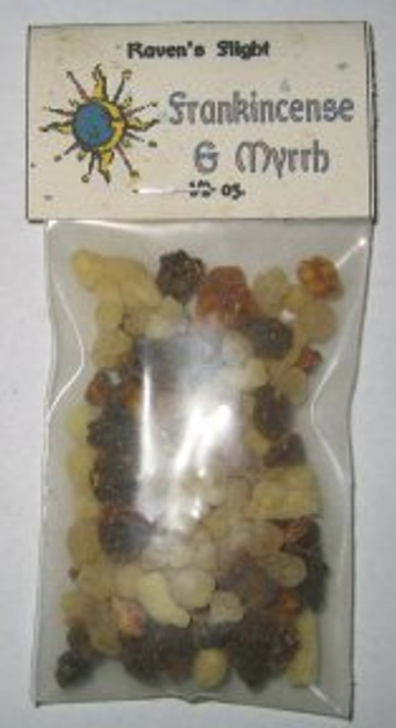 Frankincense & Myrrh Resin Incense 1/2 oz bag.