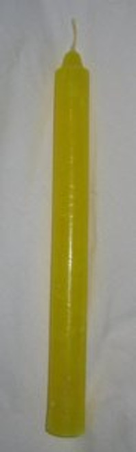 "Yellow 8"" Taper Candle"