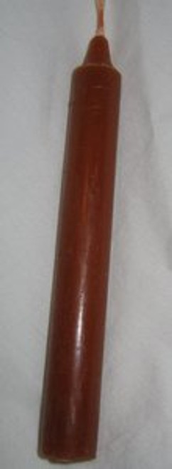 "Brown-6"" Taper Candle"