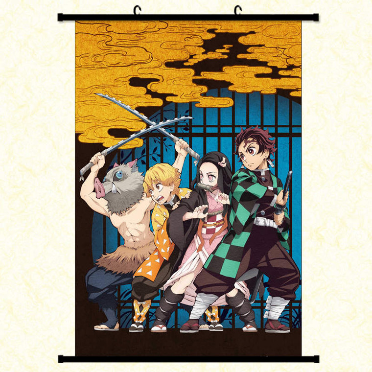 DEMON SLAYER WALL SCROLL: GROUP COVER