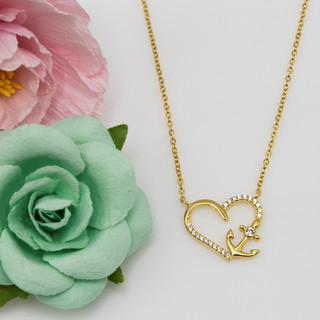 Anchored Heart Necklace - 116634