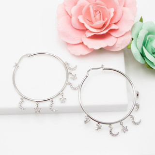 Moon and Star Hoops - 116541