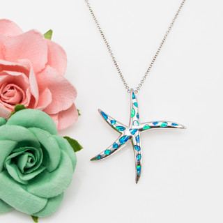 Synthetic Opal Starfish Necklace - 700518