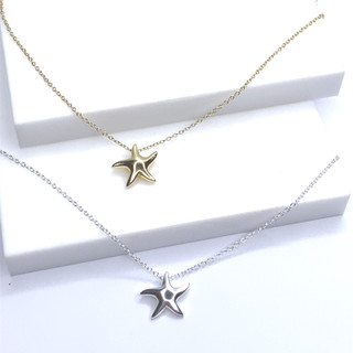 Small Polished Dancing Starfish Necklace