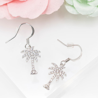 Fish Hook Palm Tree Earrings - 800014