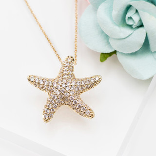 Puffy Starfish Necklace - 800035