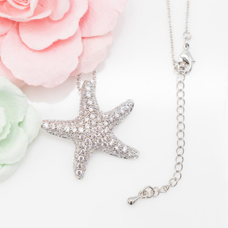 Puffy Starfish Necklace - 800026