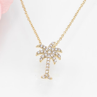 Small Palm Tree Necklace - 800010
