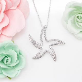 Open Starfish Necklace - 800028