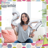 Birthday Square PSD - Booth for  iPad