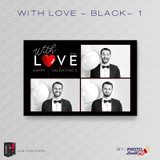 With Love Black 1 4x6