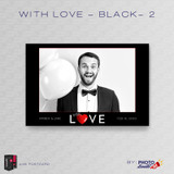With Love Black 2 4x6