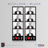 With Love Black 2x6 4 Images