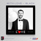 With Love Black Square