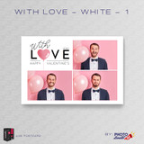 With Love White 1 4x6